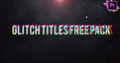 Glitch Titles Free Pack For Premiere Pro