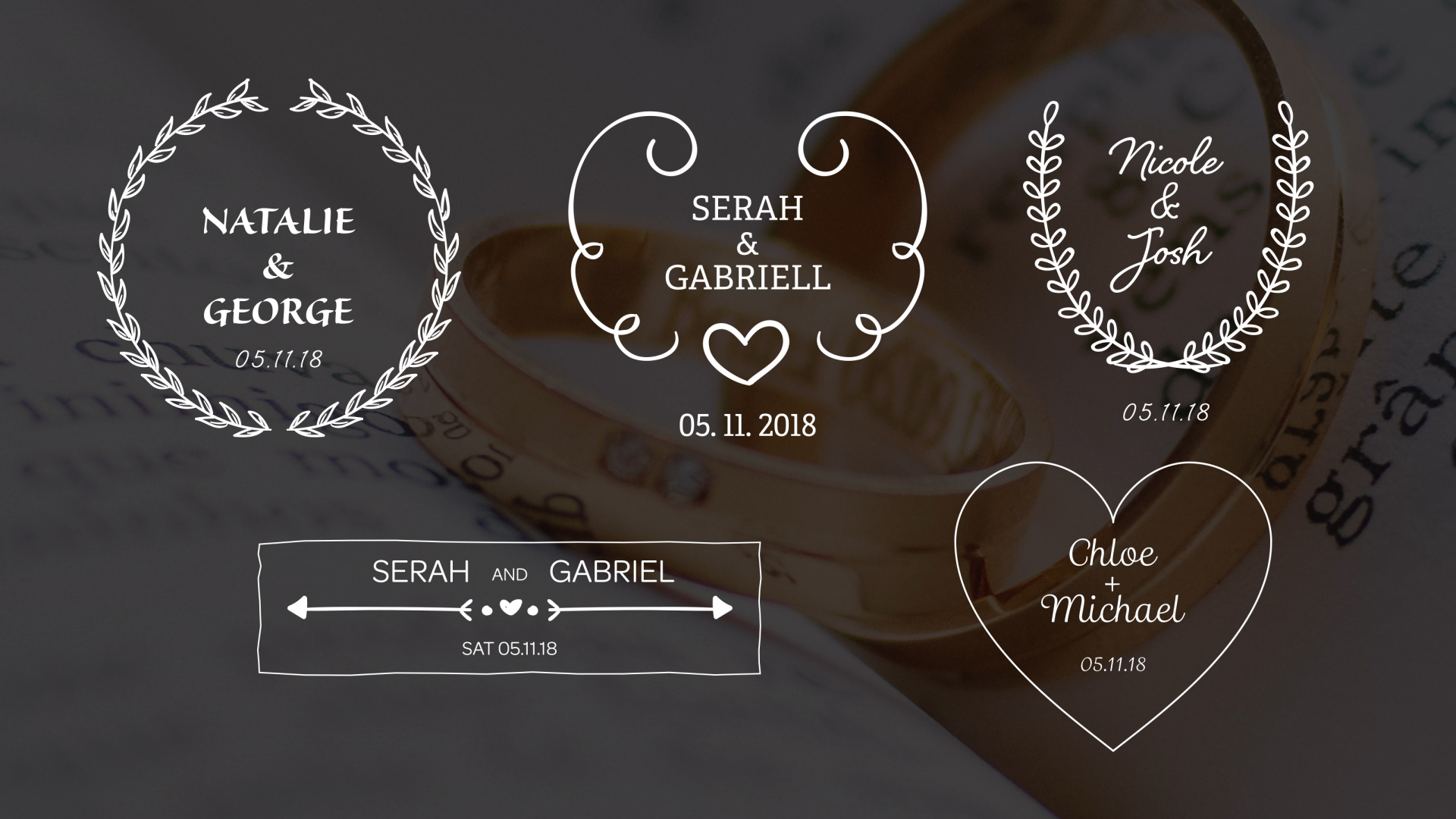 The Best Wedding Title Templatest 2018